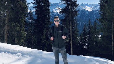 Hiking the Austrian Alps in winter